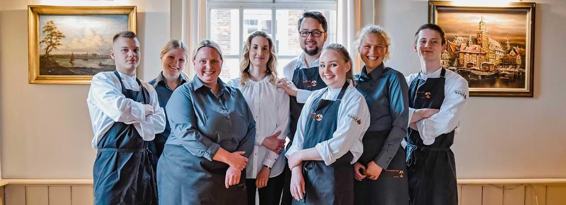 Das Team sorgt für Service und nachhaltigen Genuss im Restaurant Zur Waage
